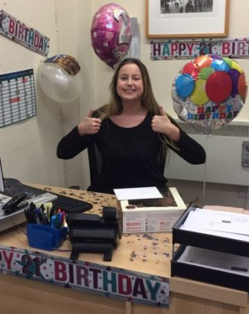 Nicole turns 21 today - TRAK Employment Solutions - jobs in Swindon